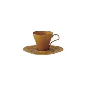 画像1: 【FORET フォレ】レリーフソーサー 茶