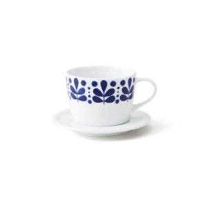 画像1: 【NAVY BLUE ネイビーブルー】コーヒーソーサー リーフ